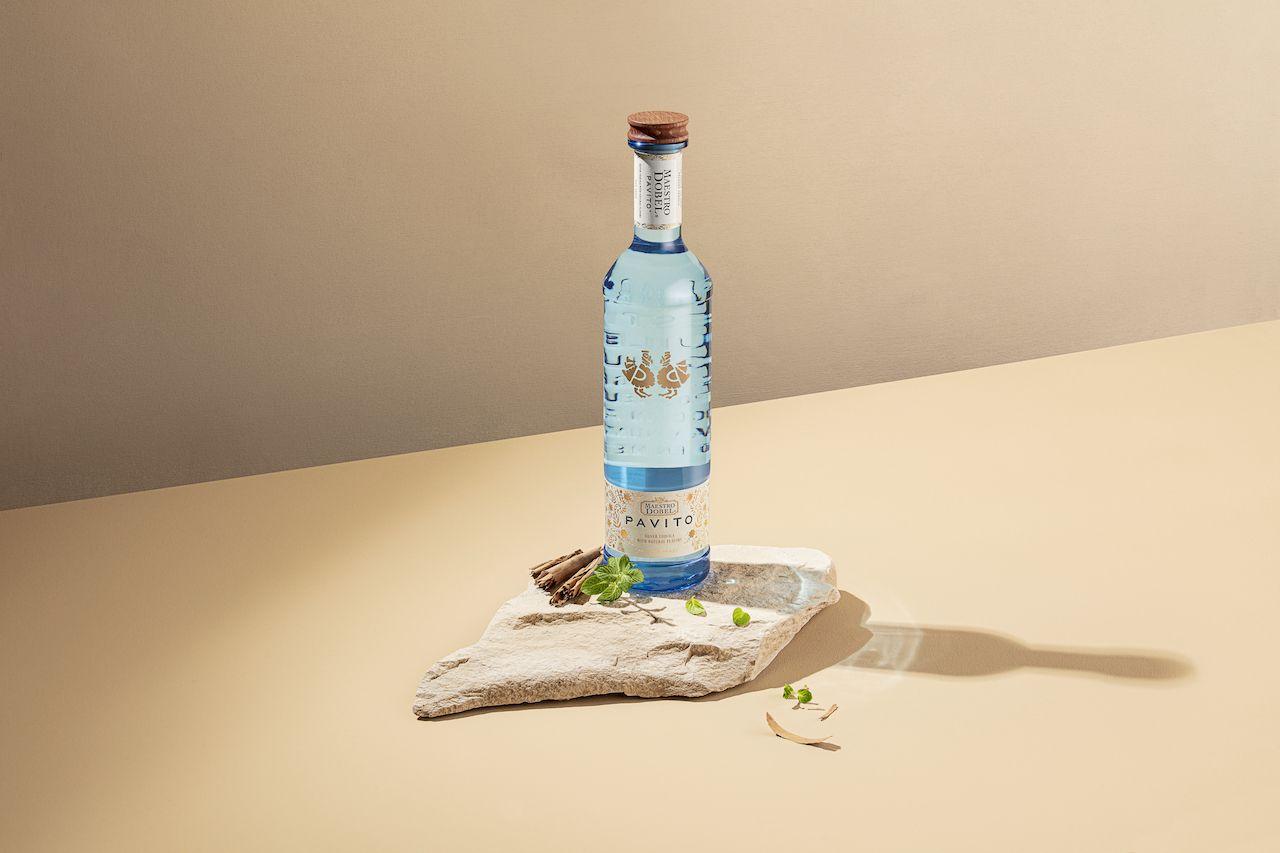 maestro dobel pavito pechuga tequila bottle