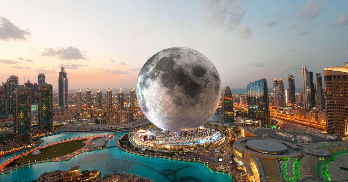 This gigantic resort shaped like the Moon is the next best thing to space travel