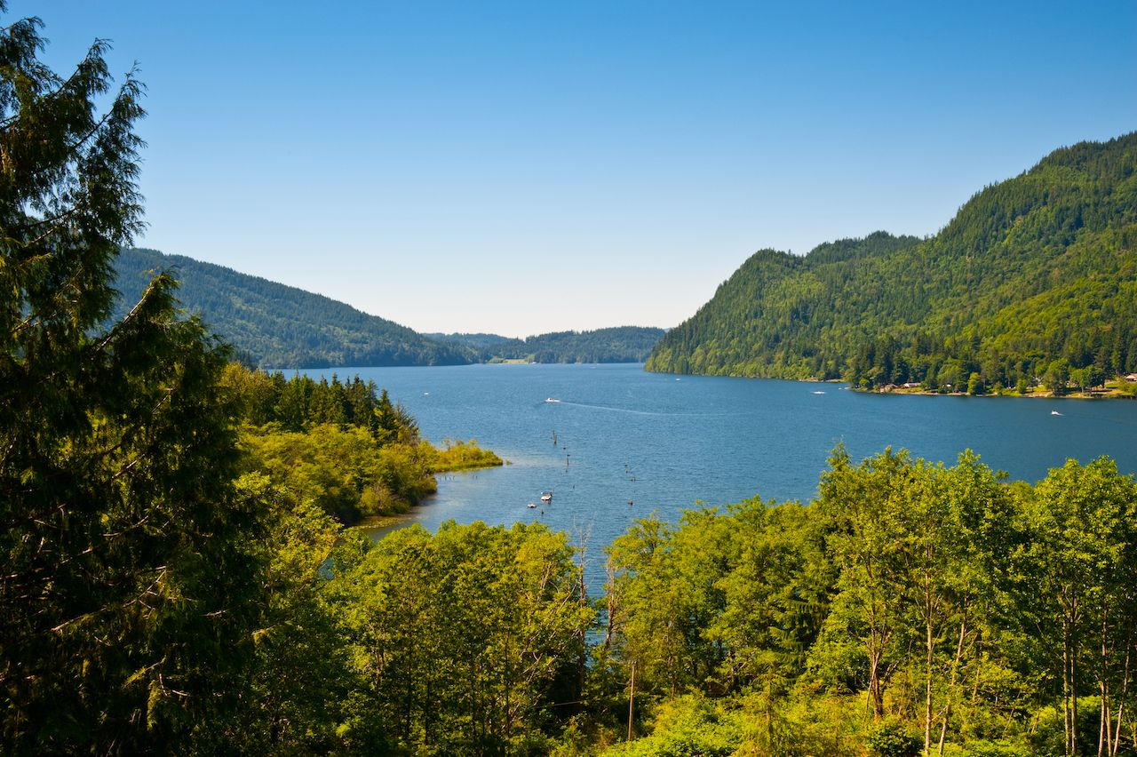 Lake Whatcom in Bellingham, Washington