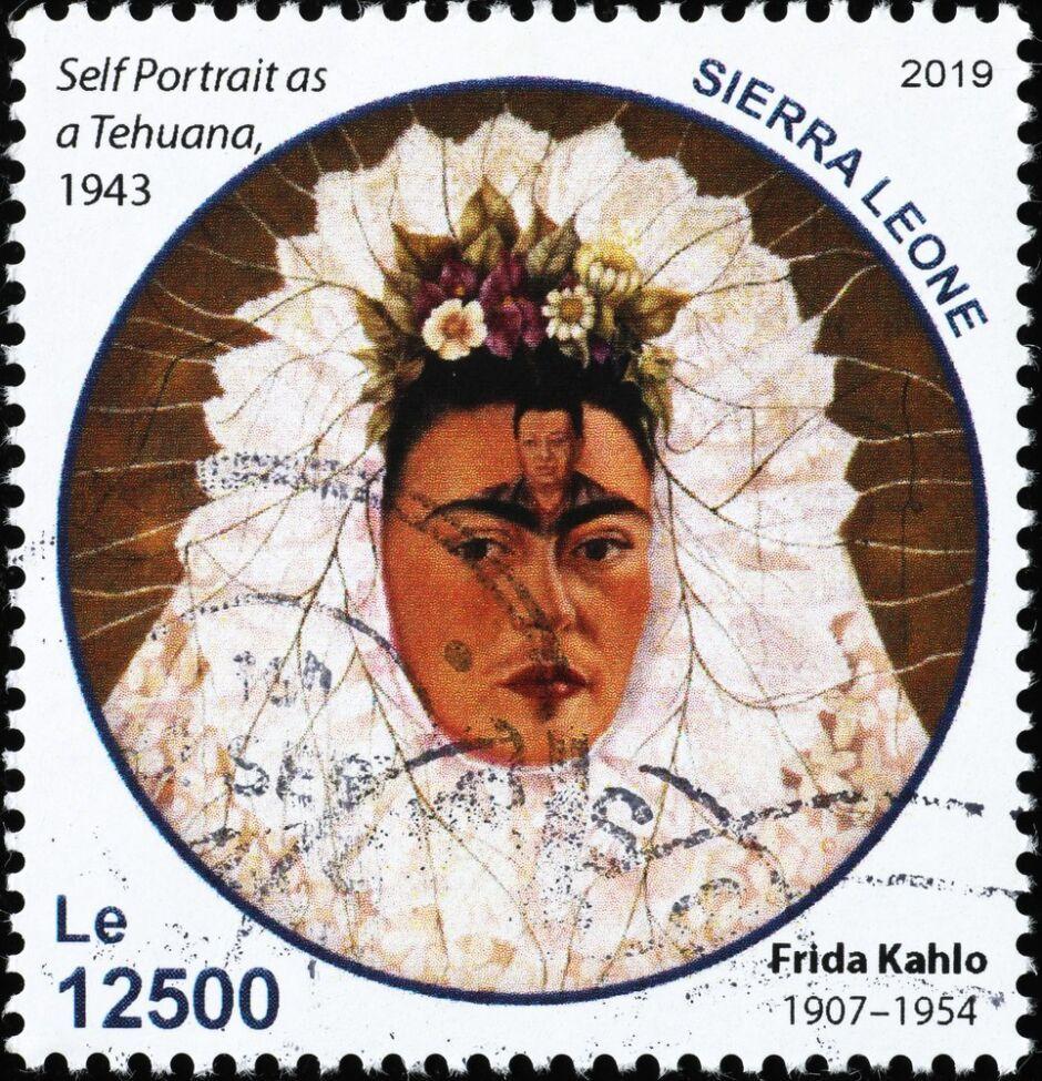 cuadro de Frida Kahlo Diego en mis pensamientos Autorretrato como tehuana