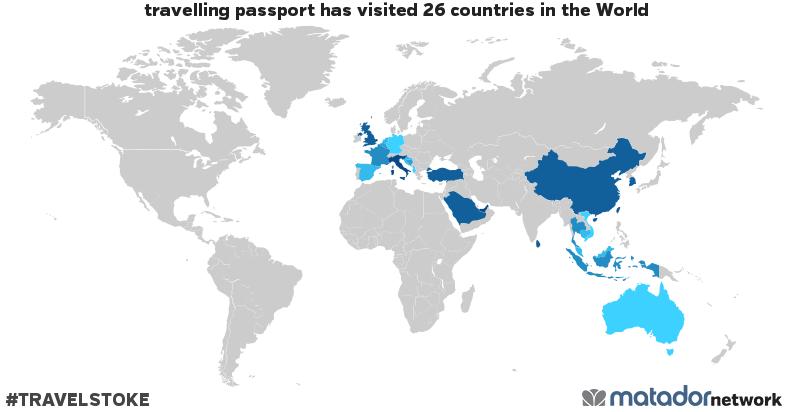 travelling passport's Travel Map