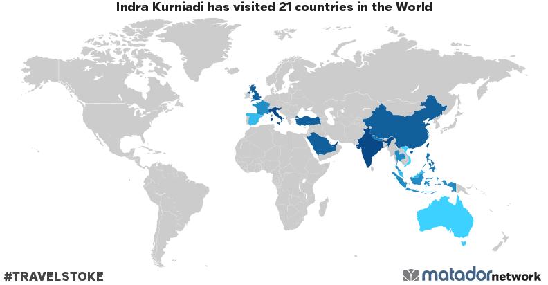 Indra Kurniadi's Travel Map